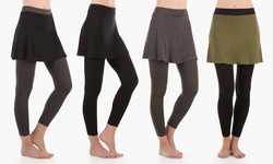 Sociology Skirted Leggings: Charcoal Skirt-charcoal Leggings/medium-large