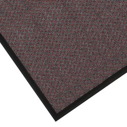"Notrax 145 Preference Entrance Mat, for Inside Foyer Area and Main Entranceways, 3' Width x 4' Length x 5/16"" Thickness, Red/Black"