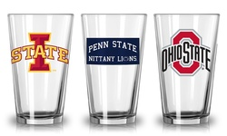 Boelter NCAA Lowa State Print Glass with Team_s Logo