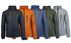 Spire by Galaxy Mens Spire Puffer Jacket - Royal Blue/Orange - Size: 2XL
