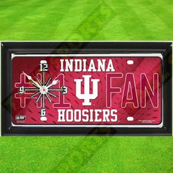 Indiana Hoosiers NCAA Clock-license Plate
