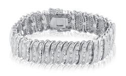 Brilliant Diamond 2.0 CTTW Diamond Bracelet with 14K White Gold Plating