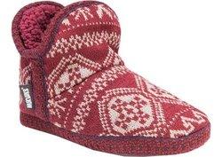 Muk Luks Women's Amira Booties - Red - Size: Medium