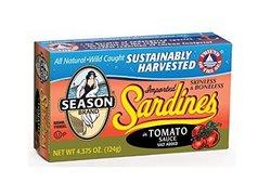 Seasons Club Tomato Skinless & Boneless Sardines Sauce 4.3 Ounce
