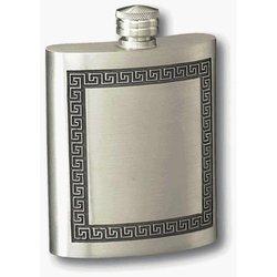 Visol Elegant Greek Design Pewter Flask - 6 Oz