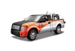 Maisto 1:24 Scale Ford F-150 STX & Harley Davidson 2000 Diecast Vehicles