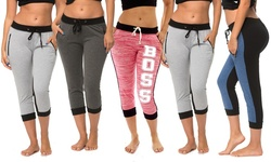 Coco Limon Joggers: Charcoal Grey-white-denim-pink-black/medium