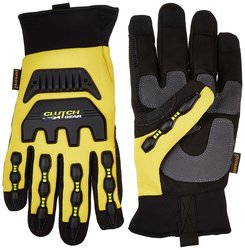 Clutch Gear PVC Anti-Impact Water-Tite Mechanics Work Gloves - Yellow/3X-L