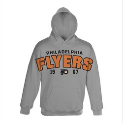 NHL Boys' Philadelphia Flyers Gold Plated Fleece- Heather Grey - M (10-12)