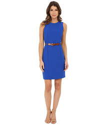 Michael Kors Women's Fitted Seam Dress - Amalfi Blue - Size: 8