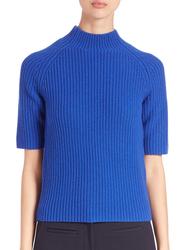 Michael Kors Women's Shaker Mockneck Sweater - Amalfi Blue - Size: XS