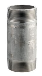 """Merit Brass SS 304/304L Pipe Fitting Nipple - 40 Welded - 3""""X9"""" NPT Male"""