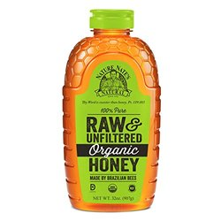 Nature Nate's Organic Pure, Raw and Unfiltered Honey, 32 Ounce