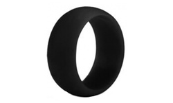 Maze Exclusive Unisex Silicone Ring - Black - Size: 8