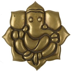 Lord Ganesha Wall Hanging Plate  Brass Statue
