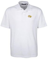 Oxford Golf NCAA Georgia Tech Men's Classic Pique Polo - White - Size: XXL