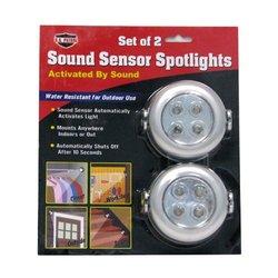Gino Sound Sensor Spotlights Set of 2 Lights