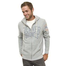 Junk Food Men's NFL Denver Broncos Full Zip Hoodie - H Grey - Size: M