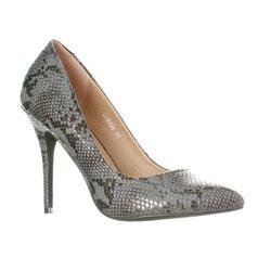 Riverberry Women's Gaby Closed Toe Stiletto Heels - Black Python - Size: 8