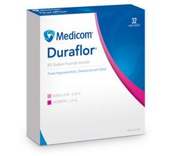 Medicom Duraflor 5% Sodium Fluoride Varnish Pack of 32 - Raspberry