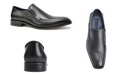 Joseph Abboud Men's Dylan Slip-On Dress Shoes - Black - Size: 12