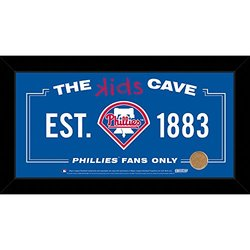 "MLB Philadelphia Phillies Kids Cave Sign with Game Used Dirt from Citizens Bank Park, Blue, 6"" x 12"""