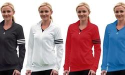 Adidas Women's 3-Stripes Full-Zip Jacket: White/Black-Large