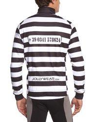 Jolly Wear Men's Alcatraz Cycling Jacket - Prison Stripes - 2X Large