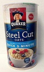 Quaker Steel Cut Canister Quick 3 Minute Oats 25 oz.