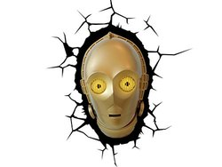3D Light FX Star Wars C-3PO 3D Deco LED Wall Light