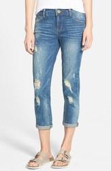 Jolt Junior's Girlfriend Relaxed Jeans - Medium Blue - Size: 11