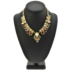 BCBGeneration Gold-Tone and Mixed Stone Frontal Necklace