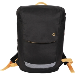 Durban Unisex Bicycle Backpack with Removable Laptop Case - Black