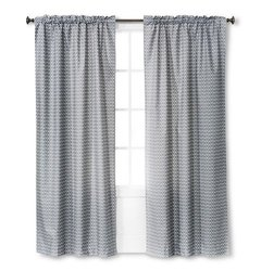 Room Essentials Light Blocking Curtain Panel - Gray Chevron - 42x84