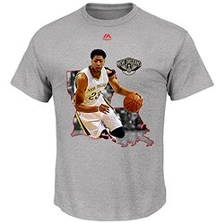 NBA New Orleans Pelicans Anthony Davis Men's 23 The Bigger Prize Tee, Medium, Steel Heather