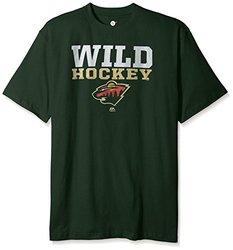 NHL Minnesota Wild Men's Short Sleeve Screen Print T-Shirt, 4X/Tall, Dark Green