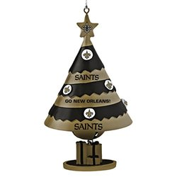Topperscot New Orleans Saints Tree Shaped Bell Ornament