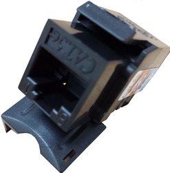 C&E CAT5E Keystone Jack - Black (CNE75693)