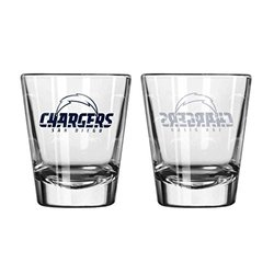 NFL San Diego Chargers Rocks Glass Set 2 - 14 oz