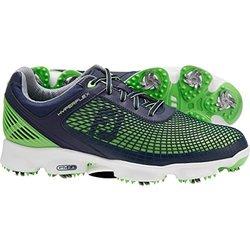 Footjoy Men's Hyperflex Golf Shoes: Navy & Electric Green/12