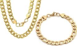HMY Men's 18K Gold Plated Stainless Steel Bracelets