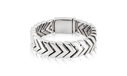 """Men's Stainless Steel Chevron Link Bracelet - 9"""""""