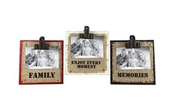 Young's 3 Piece Wood Picture Frame Set, 4 by 6