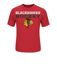 NHL Chicago Blackhawks Men's From Athletics Tee, Large, Red