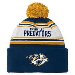 Reebok NHL Nashville Predators Youth Cuffed Knit Hat - Navy - Size: One
