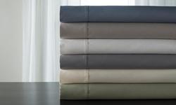 Lancaster Langston 850tc Cotton Rich Sheets - Blue Fog - Size: queen
