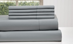 Wexley Home 1200TC Cotton Rich Bed Sheet Set - Platinum - Size: Full