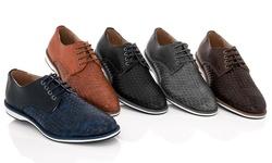 Adolfo 150811 Lace-up Dress Men's Shoes - Grey - Size: 7.5