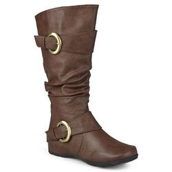Journee Women's Paris Extra Wide Calf Boots - Brown - Size: 10