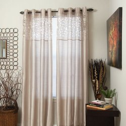 Beige Karla Laser-Cut Grommet Curtain Panel, 95 in. Length
